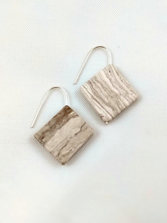 Earrings - Concrete Square Earrings