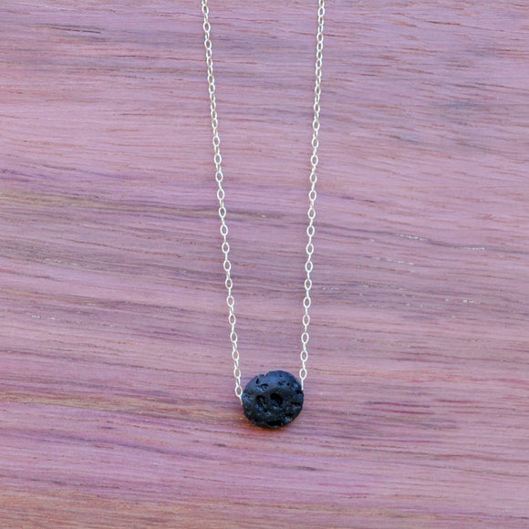 Necklace - Single Lava Disc Necklace