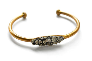 Brass Cuff - Pyrite Brass Copper Cuff