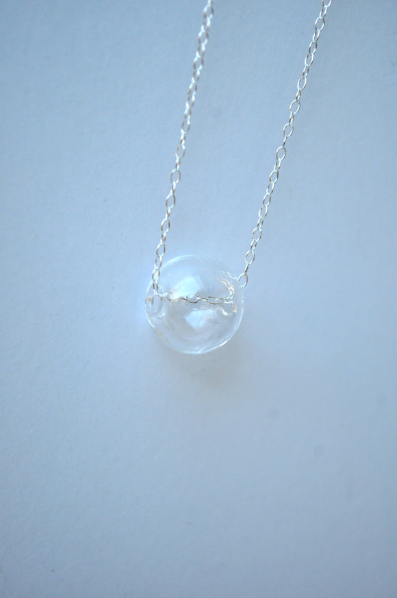 Necklace - Single Glass Sphere Necklace