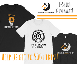 Help us get to 500 Likes! T-Shirt Giveaway...