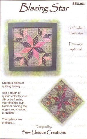 Blazing Star Quilt Block