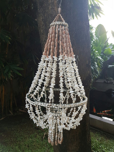 White Ark Nassa Shell Manor Chandelier
