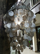 "Black Capiz Chandelier Shade (23"")"