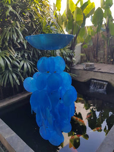 Blue Capiz Bwl Windchime