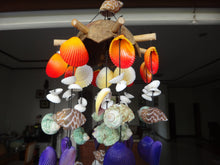 Coco Seashell Wind Chime Stick - Orange