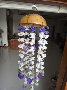 Coco Flat Seashell Windchime White Purple