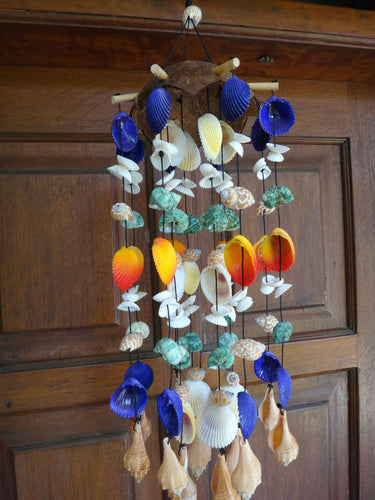 Coco Seashell Wind Chime Stick - Purple Top
