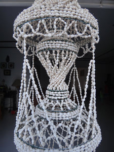 White Nassa Shell Chandelier Shade