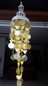 Yellow Capiz Shells and White Nassa Shells - Garden Decor