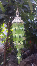 Green Capiz Shells and White Nassa Shells - Garden Decor 25""