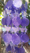Purple Capiz Shells and White Nassa Shells - Garden Decor 25""