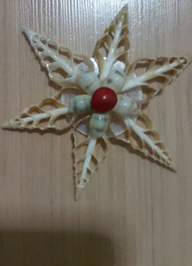 Flower Ornament - Center Cut Tibia Shell (2 Pieces)