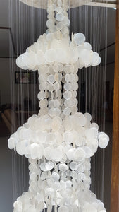 Three-Tier Capiz Shell Chandelier 40""
