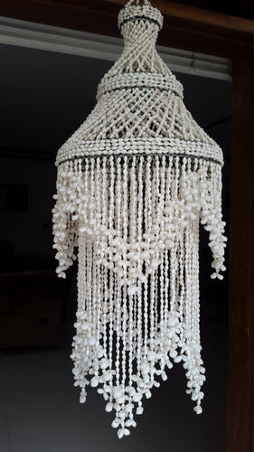 Raindrop White Nassa Round Chandelier Shade