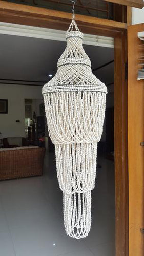 White Nassa Chandelier Three-Tier
