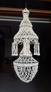 White Nassa Chandelier With White Bubble