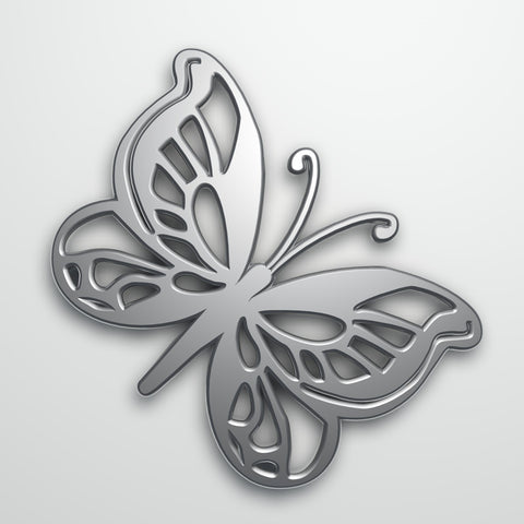 Solid Metal Butterfly