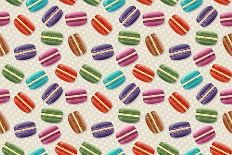 Colorful macarons pattern