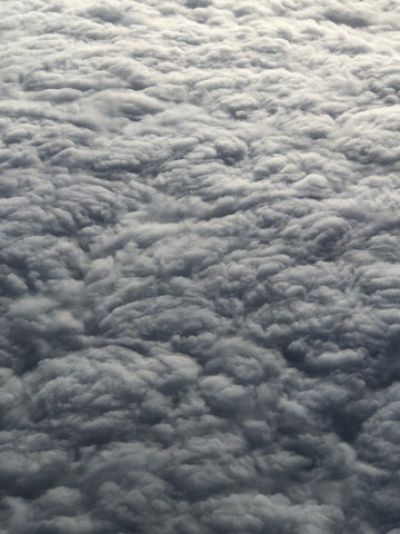 Blanket of fluffy clouds