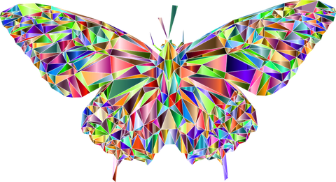 Colorful Crystal Butterfly