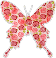 Pink Roses Butterfly