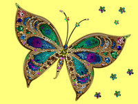 Vivid Mosaic Butterfly