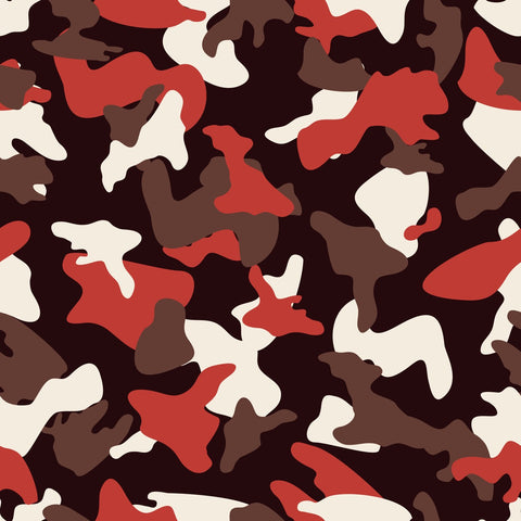 Red camo army pattern