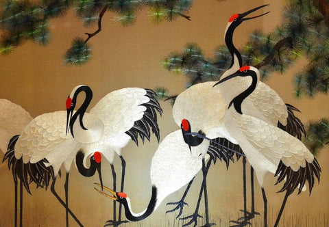Colorful Painting of egrets
