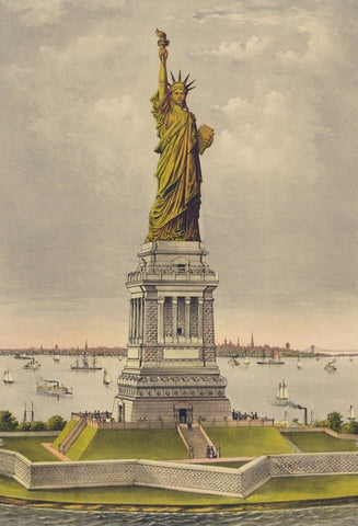Currier & Ives. - Print c.1885 - Statue of Liberty