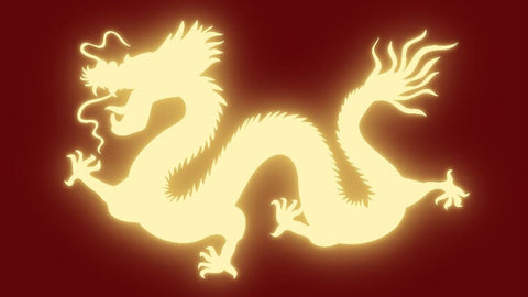 Cut out of a Chinese dragon