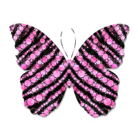 Pink Crystals Butterfly