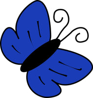 Simple Blue Butterfly