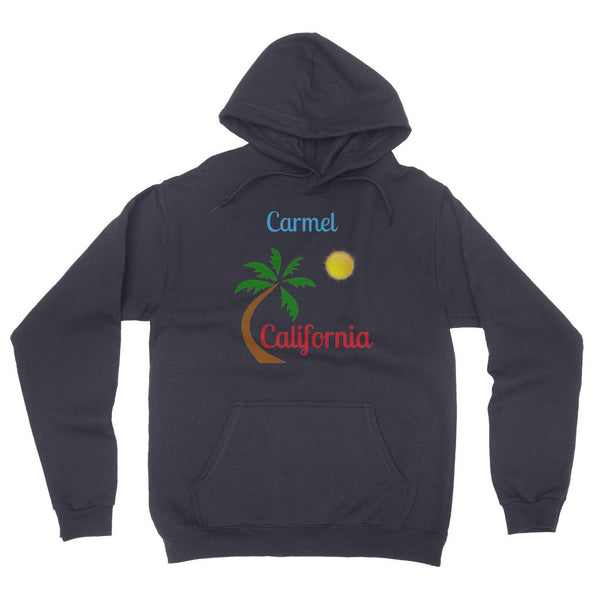 Carmel California Palm Sun California Fleece Pullover Hoodie