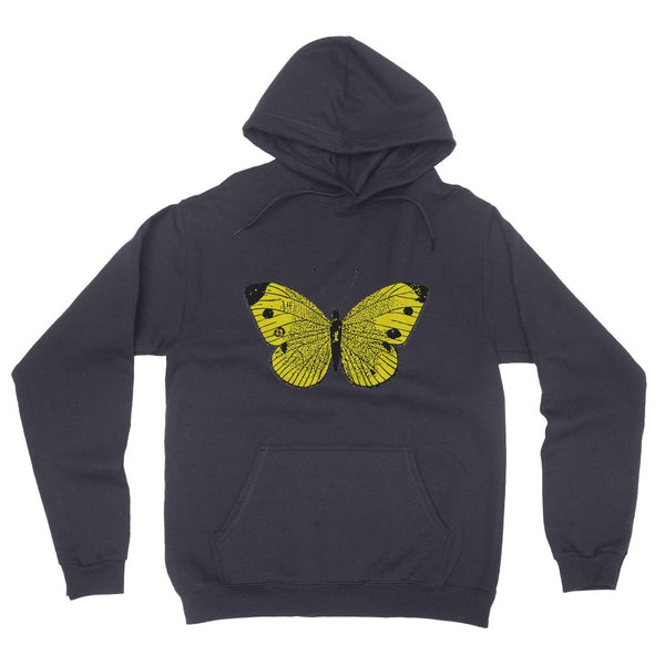 Yellow Comic Butterfly California Fleece Pullover Hoodie