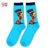 1 Pair Retro Vintage Women Men Modern Renaissance Van Gogh Starry Night Art Oil Painting Socks Unisex Funny Novelty Socks