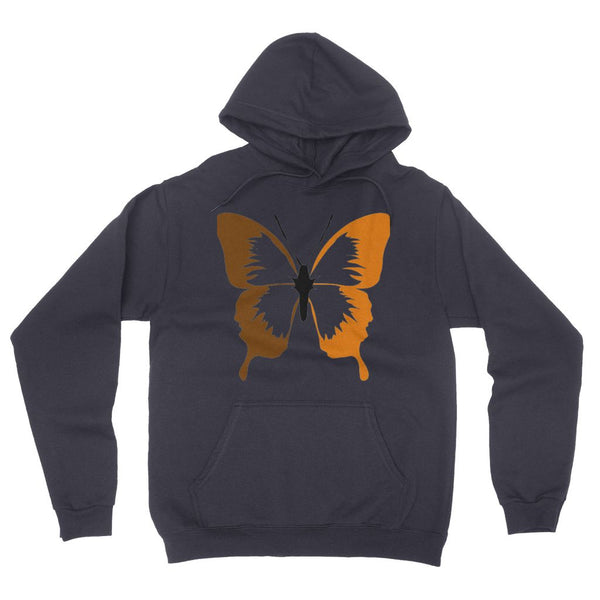 Brown Orange  Butterfly California Fleece Pullover Hoodie