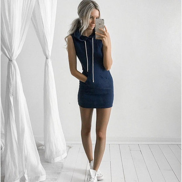2018 Hot Women Sexy Summer Evening Party Casual Sleeveless Dresses  Lady's Mini Dress