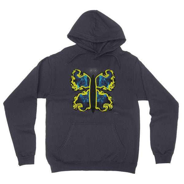 Cosmic Yellow Butterfly California Fleece Pullover Hoodie
