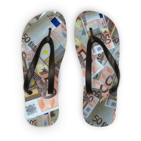 50 Euro Banknotes Flip Flops S Accessories