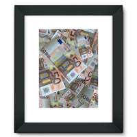 50 Euro Banknotes Framed Fine Art Print 12X16 / Black Wall Decor