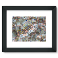 50 Euro Banknotes Framed Fine Art Print 16X12 / Black Wall Decor