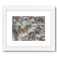 50 Euro Banknotes Framed Fine Art Print 16X12 / White Wall Decor