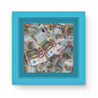 50 Euro Banknotes Magnet Frame Light Blue Homeware
