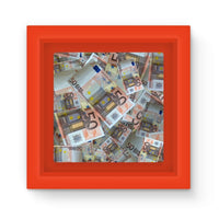 50 Euro Banknotes Magnet Frame Red Homeware