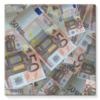 50 Euro Banknotes Stretched Canvas 10X10 Wall Decor