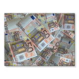 50 Euro Banknotes Stretched Canvas 16X12 Wall Decor
