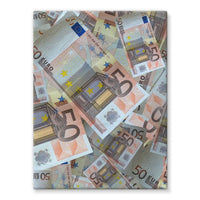 50 Euro Banknotes Stretched Canvas 18X24 Wall Decor