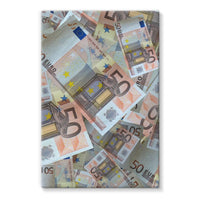 50 Euro Banknotes Stretched Canvas 24X36 Wall Decor
