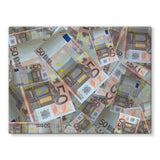 50 Euro Banknotes Stretched Canvas 32X24 Wall Decor